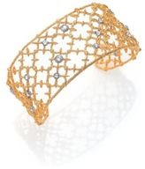 Alexis Bittar Elements Gilded Muse Crystal Small Spur Lace Cuff Bracelet