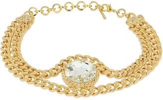 Alessandra Rich Chain Choker W/ Crystals