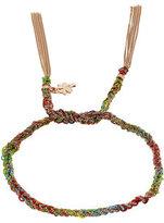 Carolina Bucci 18 Carat Rose Gold and Silk Woven Tassel Bracelet