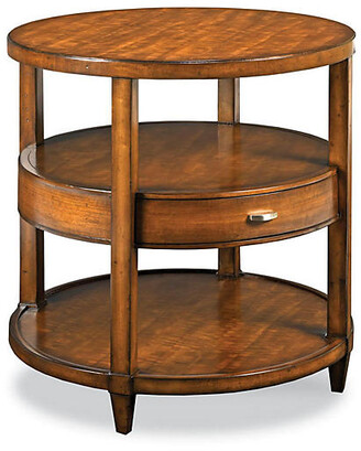 One Kings Lane Buhman Round Side Table - Maple - frame, maple; hardware, nickel