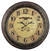 Lazy Susan 24 in. Bronze Verdigris Wall Clock