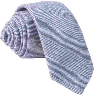 The Tie BarThe Tie Bar Classic Blue Brushed Cotton Herringbone Tie