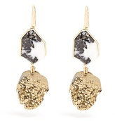 Christopher Kane Two-drop natural stone earrings