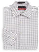 Saks Fifth Avenue Trim-Fit Textured Gingham Stretch Cotton Dress Shirt