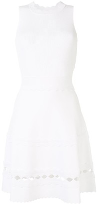 Paule Ka Sleeveless Laser Cut Dress