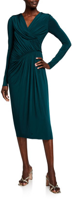 Jason Wu Collection Evening Jersey Long-Sleeve Dress