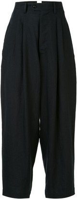 Y's High-Waisted Wide Leg Trousers