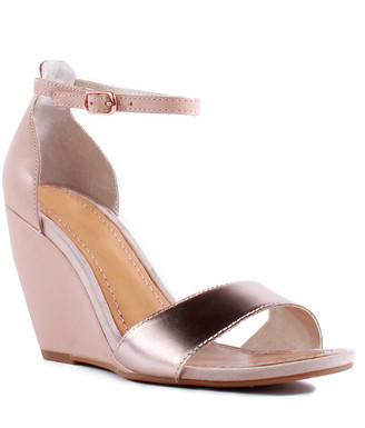 Seychelles Women's Sandals ROSE - Rose Gold & Vacchetta Leather Sandal - Women