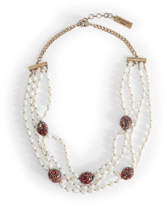 Max Mara Pedone Beaded Pearl Necklace