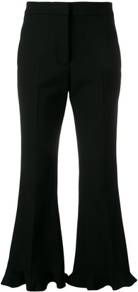 Stella McCartney Ruffle Flare Tailored Trousers