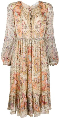 Etro Paisley Belted Dress