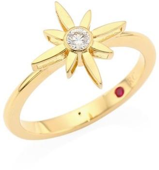 Roberto Coin Disney x Princess Cinderella 18K Yellow Gold & Diamond Star Ring