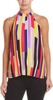 1 STATE 1.STATE 1.State Accordion Pleat Halter Top
