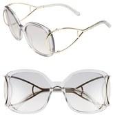 Chloé Women's 'Jackson' 56Mm Square Sunglasses - Blonde Havana