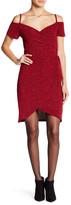 Angie Cold Shoulder Faux Wrap Dress