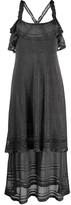 M Missoni metallized frilled midi dress