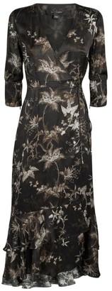 AllSaints Tage Silk-Blend Evolution Dress