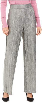 JM Collection Metallic Crinkle Pants