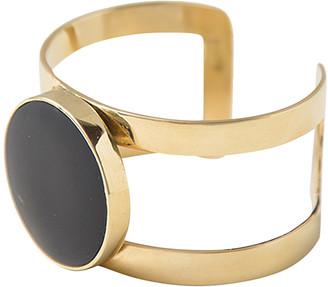 Soko Women's Bracelets Gold/Black - Black & Goldtone Horn Circle Kizimba Cuff