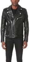 Pierre Balmain Leather Moto Jacket