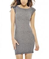 AX Paris Gray Textured Bodycon Dress