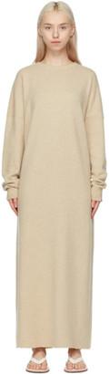 Extreme Cashmere Beige Cashmere N106 Weird Midi Dress