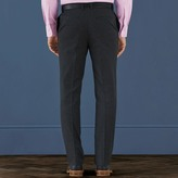 Charles Tyrwhitt Charcoal slim fit cotton flannel puppytooth pants
