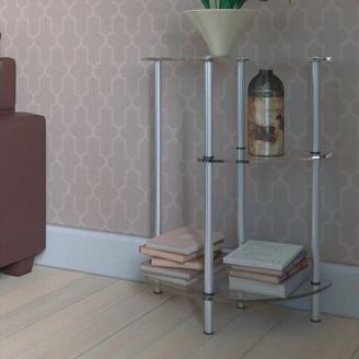 Porch & Den Japonica 3-tier Glass Entryway Table