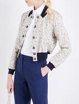 Mary Katrantzou Tweed bomber jacket