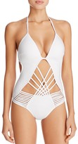 Kenneth Cole Wireless Push Up One Piece Swimsuit