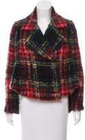 Burberry Plaid Mohair & Wool-Blend Coat