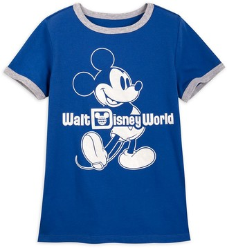 Disney Mickey Mouse Classic Ringer T-Shirt for Kids Walt World Wishes Come True Blue