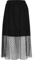 River Island Womens Black polka dot tulle midi skirt