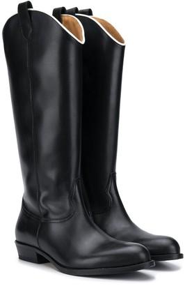 Gallucci Kids TEEN flat cowboy boots