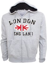 England Mens London Union Jack Hooded Zip Up Jumper/Hoodie