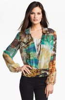 Alberto Makali 'Ocean' Print Silk Blouse & Camisole