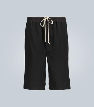 Rick Owens Karloff Tecuatl jersey shorts