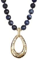 Simon Sebbag Hammered Open Pendant Sodalite Necklace
