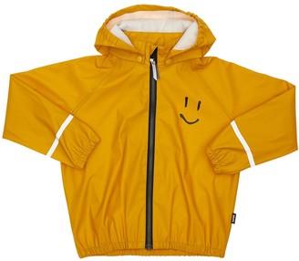 Molo Smile Print Rubber Rain Coat