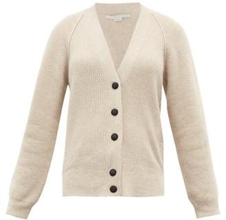 Stella McCartney V-neck Ribbed Wool-blend Cardigan - Cream