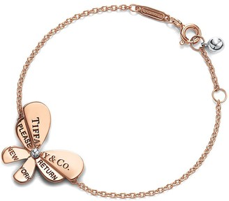 Tiffany & Co. Return to TiffanyTM Love Bugs butterfly chain bracelet in rose gold and silver - Size Extra Small/Small
