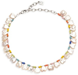Dannijo Lina Freshwater Pearl Beaded Necklace