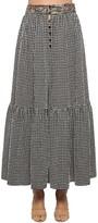 Missoni Ruffled High Waist Vichy Maxi Skirt