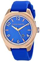Vince Camuto Unisex The Commuter Quartz Watch with Blue Dial Analogue Display and Blue Silicone Strap VC/1051BLRG