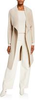 Mackage Sybil Shearling Shawl-Collar Wool Wrap Coat