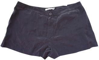 Alexander Wang Black Silk Shorts for Women