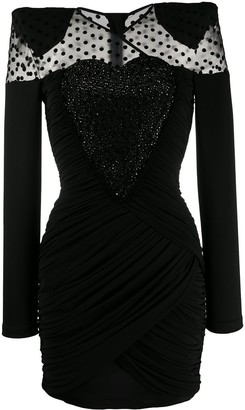 Balmain Sheer-Panel Short Dress