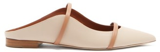 Malone Souliers Maureen Leather Backless Loafers - Cream