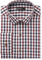 Bar III Men's Slim-Fit Wine and Blue Textured Gingham Dress Shirt, Only at Macy's