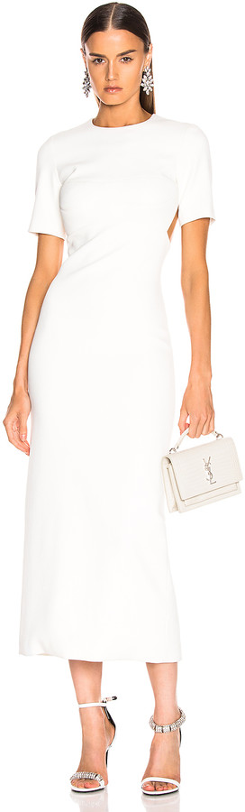 Brandon Maxwell Backless Bustier Sheath Dress in Ivory | FWRD